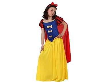Atosa-10754 Disfraz Princesa de Cuento, color amarillo, 7 a 9 años (10754)
