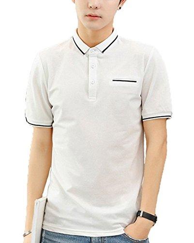 Semida ポロシャツ メンズ 半袖 カジュアル ポロ ゴルフウェア 無地 快適 シンプル 通気性 薄手 吸汗 夏 polo シャツ S010