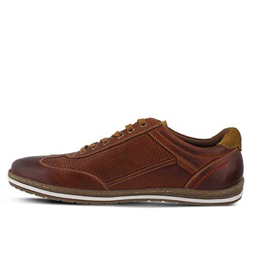 Lente Stap Heren Dublin Sneaker Mahonie Leer