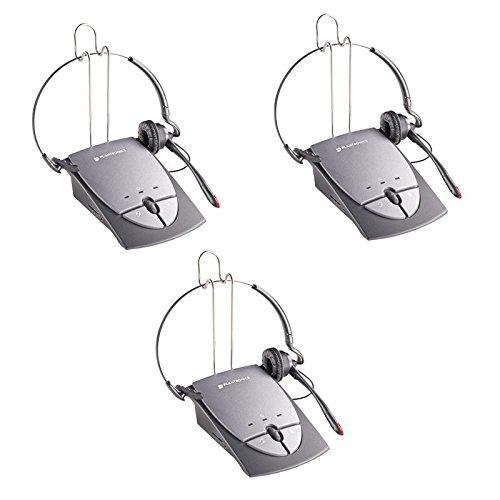 Plantronics S12 Corded Telephone Headset System- 3 Pack (Certified Refurbished)