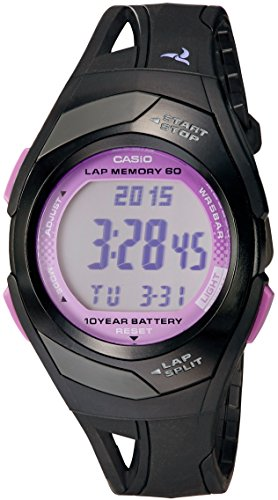 Casio Women's Runner Eco-Friendly Digital Watch Black STR300-IC