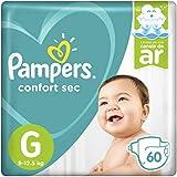 Fralda Pampers Confort Sec  60 Unidades, G