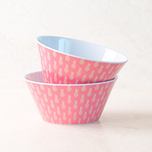 Ankit Red Pineapple  Set Of 2  Bowls  25 Oz  Dishwasher Safe  Microwave Safe  Dinnerware