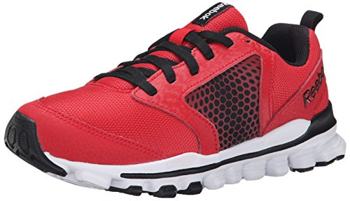 Reebok Hexaffect 2.0 Wild Running Shoe (Little Kid/Big Kid), Red Rush/Black/White/Flash Red, 3 M US Little Kid