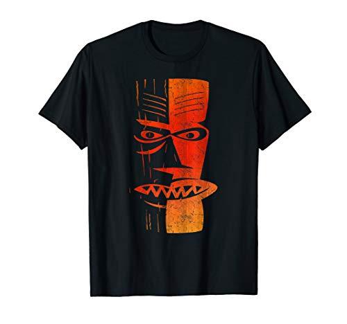 Tiki t-shirt | Cool Retro Island Polynesian Tiki Head Tee