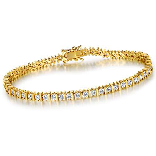 OPALTOP 3mm CZ Tennis Bracelet Infinity Cubic Zirconia for Women Men 7.5