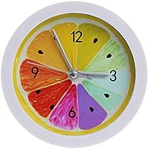 OHTOP Cool Fruit Fresh Lemon Alarm Clock Desktop Watch Hours Silent Bedroom Study Room
