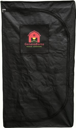 Geneva Barns GB15DW Reflective Hydroponic Grow Tent with D-Zipper, 36