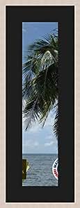 Marco de fotos de pared 59 x 14 x 14 x 59 marco, moderno, 2,3 cm de longitud, de madera, madera, Blanc Cassé-2, Passe-Partout Noir