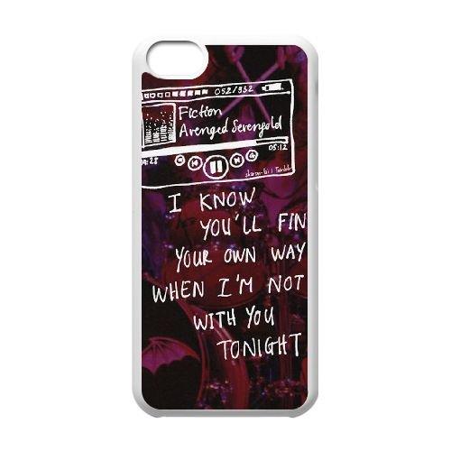 Avenged Sevenfold coque iPhone 5C Housse Blanc téléphone portable couverture de cas coque EBDOBCKCO12731