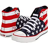 Converse Chuck Taylor Easy Slip High Pre/Grade School boys fashion-sneakers (5, Red/White/Blue)