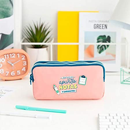 Mr. Wonderful Estuche Triple-Kit para apuntes, Notas y, Multicolor, Talla única: Amazon.es: Hogar