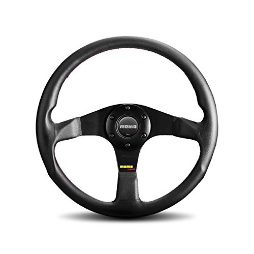 Momo Black Leather - MOMO TUN32BK0B Tuner Black 320 mm Leather Steering Wheel
