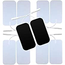 10 Pieces Large Electrode Pads for TENS Unit Pads for TENS Machine (5 x 10 cm Pin Electrodes)