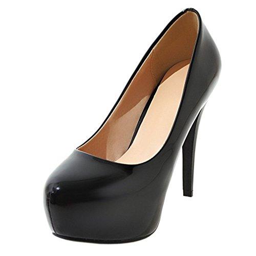 Coolcept Mujer Tacon Altos Pumps Zapatos Plataforma Black