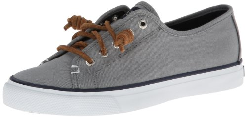 Women's Top Grey US Seacoast Sperry 8 Sider M Fashion Sneaker ZACSq
