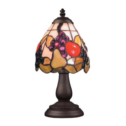Elk 080-Tb-19 Mix And Match Fruit Tiffany Table Lamp, Bronze