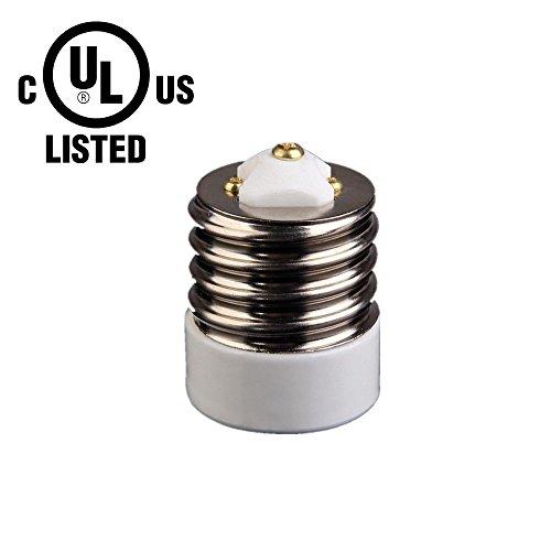 - UL-listed Mogul (E39) to Medium (E26/E27) Light Bulb Lamp Socket  Porcelain Adapter Converter Reducer