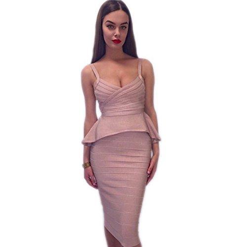 HLBCBG Kleid Pink Blau Violett Violett Damen T4n8TwFpa