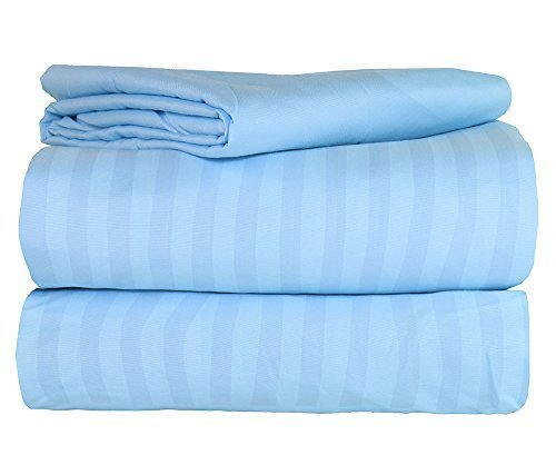 AM Home Fashion Polyester/Microfiber Super Soft Striped Luxu