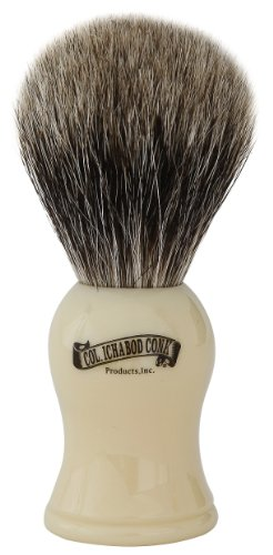 Colonel Conk Products 907 Pure Badger Brush with faux Ivory Handle ()