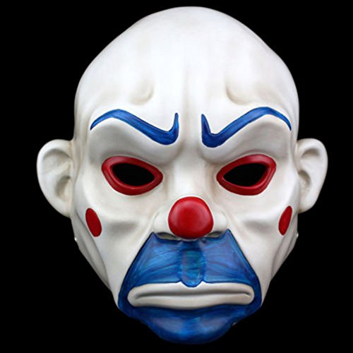 lobezm Batman Joker Clown Bank Robber Masks The Dark Knight Scale Mask Costumes (Joker Bank Robber Mask)
