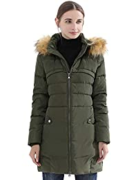 Womens Hooded Thickened Long Down Jacket Winter Down Parka Puffer Jacket