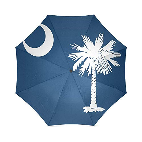 South Carolina State Flag Foldable Rain Umbrella Compact Parasol/Sun Umbrella
