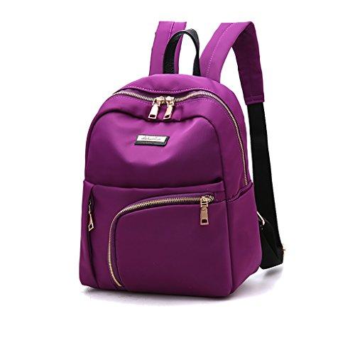 CLOTHES- Bolso De Hombro Femenino Moda Coreana Casual Nylon Salvaje Oxford Bolsas Mochila ( Color : Azul zafiro ) Purple