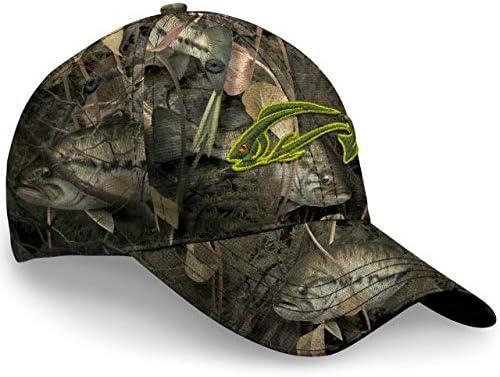 Fishouflage Bass Fishing Hat Driftwood Bay Camo Hat