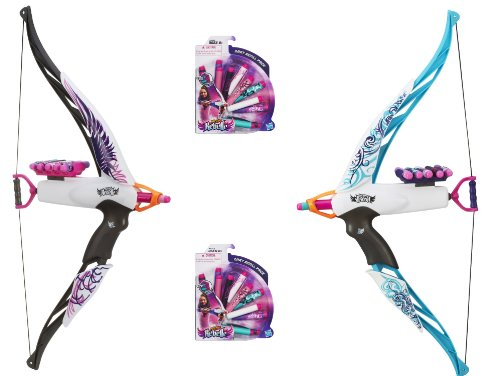 Nerf Rebelle Heartbreaker Bow And Darts Gift Bundle  1 Phoenix  1 Vine  And 2 Dart Refills