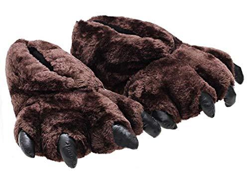 Marrone Con Comodo Caldo Zampa Unisex Pantofole Leopardo D'orso Di Chnmarket w6z7qS