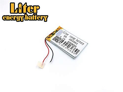 BIHUADE 3.7V 800mAh 283562 Polymer Lithium Li-ion Battery Rechargeable Lithium Polymer Li-Po Battery for MP4 GPS MP3 Bluetooth Stereo DIY Gift (283562)