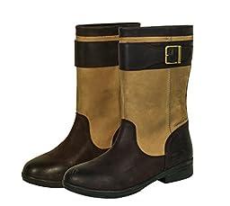 Dublin Ladies Mid Estuary Boots 7 Greige/Dk Brn