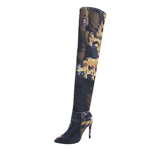 Multi My212 Chaussures Cuissardes design Bottines Et Aiguille Rose Femme Bottes Ital HTZqZw