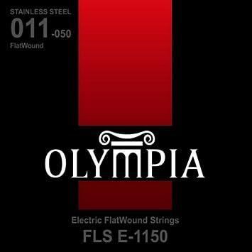CUERDAS GUITARRA ELECTRICA - Olympia (FLSE) Entorchado Plano (Juego Completo) 011/015/022E/030E/040E/0: Amazon.es: Instrumentos musicales
