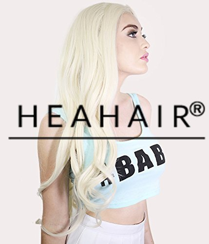 Pretty In Pigtail Wig (Heahair White Blonde Handtied Synthetic Lace Front Wig for Women)