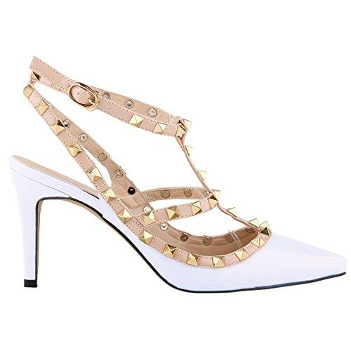 ArcEnCiel Zapatos punta tacones de blancas con con hebilla mujer en Sandalias altos tacones SEEqZr