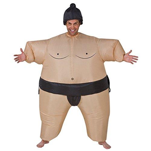 Adult/Teen Japanese Wrestling Sport Sumo Wrestler Inflatable Suit Costume