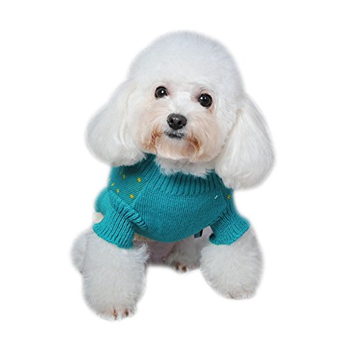 Dorapocket Pet Animal Jacquard Sweater Forest Fairy Tale Small Dog Cat Warm Clothes Coat Puppy Kitten Wool Shirt Jersey Christmas Day Eve Party Outfit,Giraffe S by Dorapocket (Image #2)