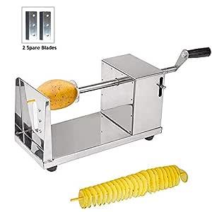 Cortador Patata - Pelador de Patatas en forma de Espiral de Acero inoxidable