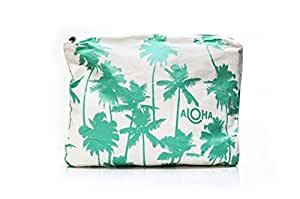 ALOHA Collection Splash-Proof Wet Bag - MAX Coco Palms Seafoam - Perfect for Beach and Travel