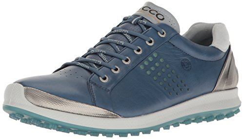 (ECCO Men's Biom Hybrid 2 Golf Shoe Denim Blue/Aquatic 39 EU/5-5.5 M US)