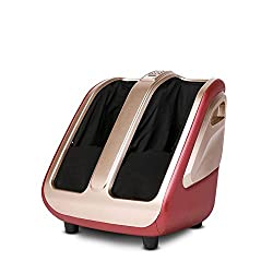 XISURE Electric Shiatsu Foot and Calf Leg Massager Machine with Heat, Deep Rolling Kneading Relieve Pain for Tired Foot, Legs, Calf, Plantar Fasciitis