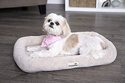 TrustyPup Luxury Liner Plush Bolstered Crate Mat and Pet Bed, Medium from Quaker Pet Group