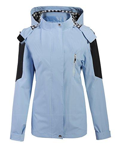 Meaneor Damen Jacke Übergangsjacke Regenjacke Regenmantel Funktionsjacke Outdoor Wasserdicht Atmungsaktiv