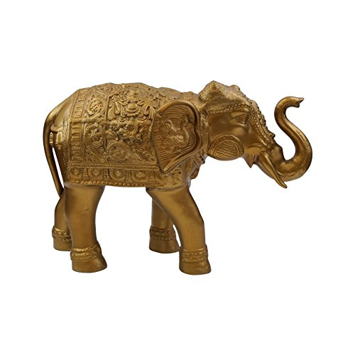Ambari Elephant (Gold Finish) - Nautical Decor by Nautical Decor