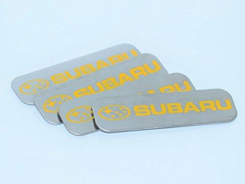 Subaru Auto Car Sill Plate Foot Step Board Metal Badge Emblem Sticker Logo Fender Swap Trunk Hood Side Adhesive Replacement Decal Sticker Truck Jeep Van Sports Diy Name Plat [4xPieces] SKU#2616-BX1016 Sill Plate Emblem