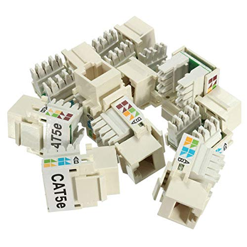Networking Networking Cables /& tools-10 x Network Connector 10Pcs Jack Cat5e White 110 Punch Down Network Connector Ethernet 8P8C RJ45 lot