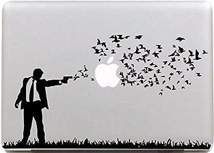 Tournage NetsPower/® /él/égant Vinyle D/écalque Autocollant Sticker Power-up Art Noir pour Apple MacBook Pro//Air 11 13 15
